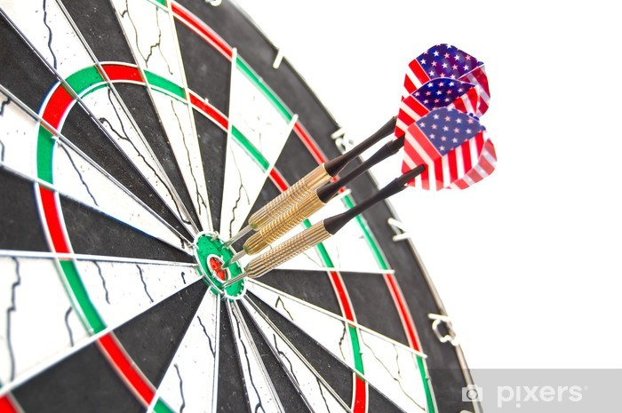 Vinyl Fotobehang Amerikaanse darts - Succes en Prestatie