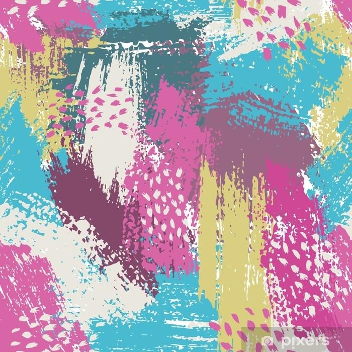 fdca8731fe Carta da Parati in Vinile Seamless con pennello strisce e tratti. colore  rosa blu viola. sfondo. texture grange dipinte a mano. inchiostro elementi  ...
