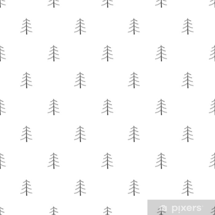 Fototapeta winylowa Unikalna ręka rysujący bezszwowy wzór z abstrakcjonistycznymi kształtami. ilustracji wektorowych w monochromatycznym stylu skandynawskim - Zasoby graficzne