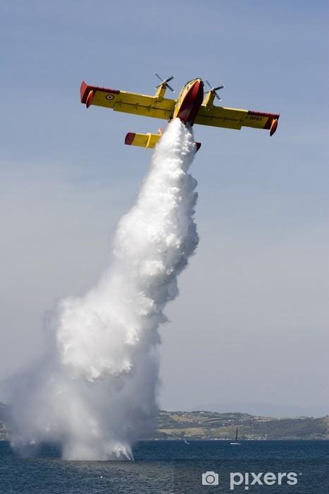 Naklejka Pixerstick Idrovolante Canadair CL-415 anty-incendio # 8 - Transport powietrzny