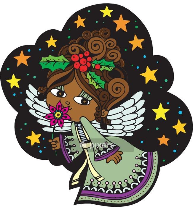 Naklejka na ścianę Boże Narodzenie Anioł 5 - Naklejki na ścianę