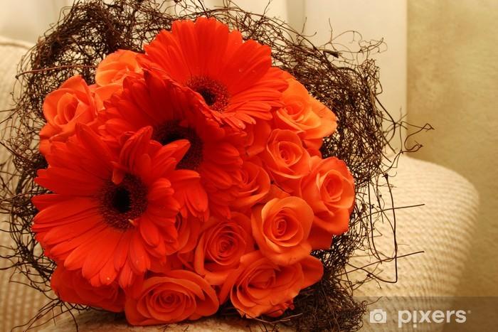 Bouquet Sposa Arancione.Carta Da Parati Bouquet Da Sposa Con Arancione Gerbere E Rose