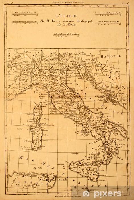 Cartina Geografica Antica.Adesivo Antica Mappa D Italia Stampato Nel 1780 Pixers Viviamo Per Il Cambiamento