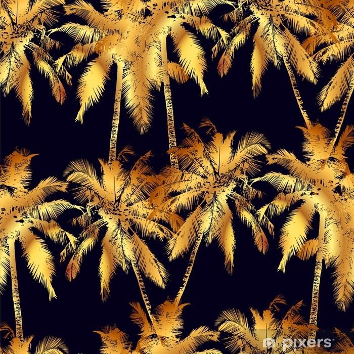 Fototapeta winylowa Bezszwowe wzór dłoni - Rośliny i kwiaty