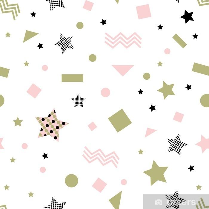 Papier peint vinyle Modèle sans couture étoile - Ressources graphiques