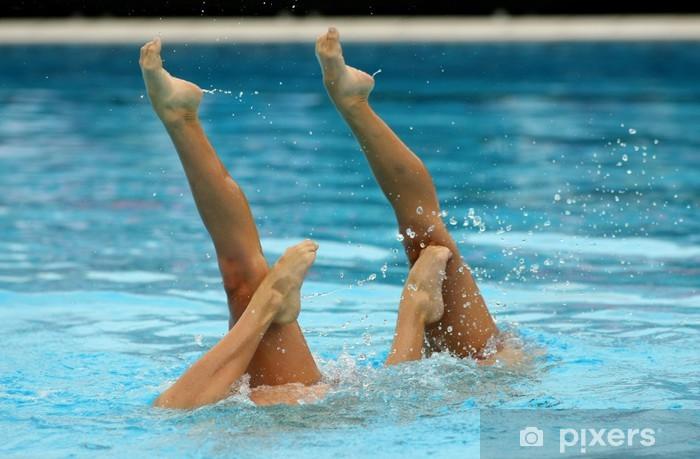 Fototapeta winylowa Duo pływanie synchroniczne - Wakacje