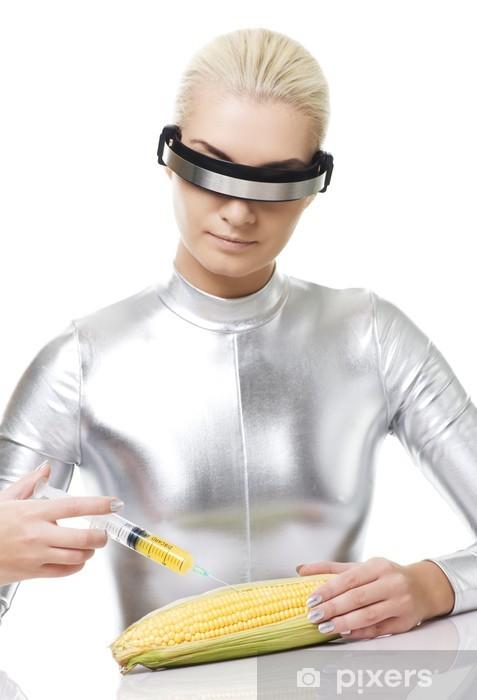 Vinylová fototapeta Cyber žena s vitamíny z kukuřice .... - Vinylová fototapeta