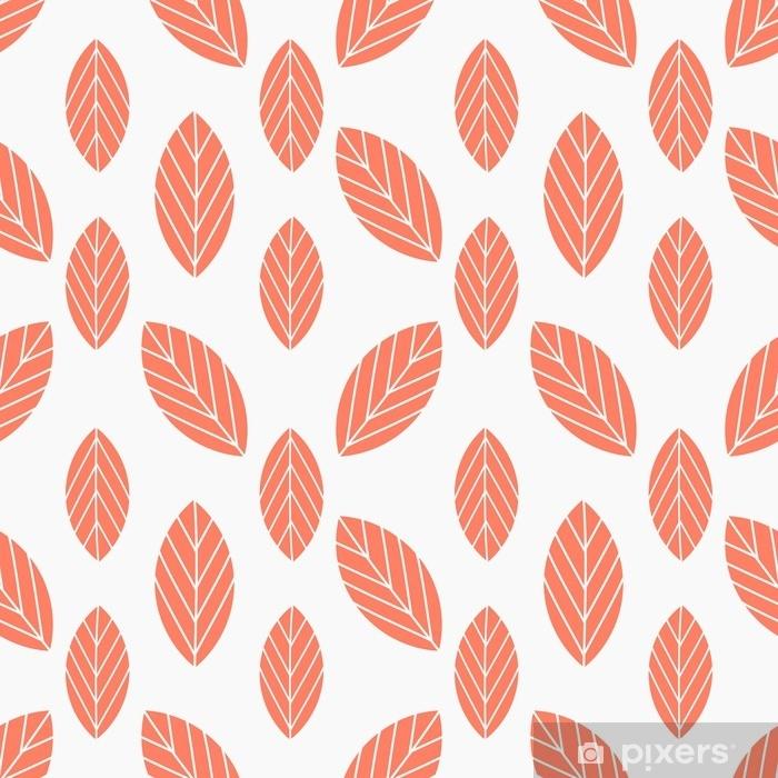 Sticker Pixerstick Feuilles d'automne transparente motif rouge - Ressources graphiques