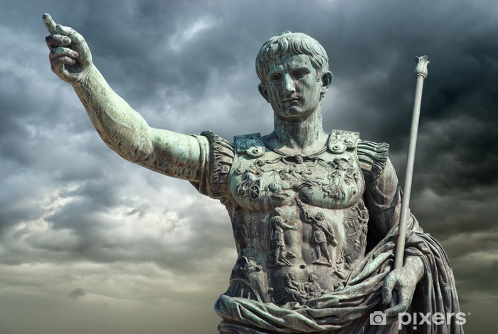 Augusto (Gaius Iulius Cæsar Octavianus Augustus), Roma Vinyl Wall Mural - Italy