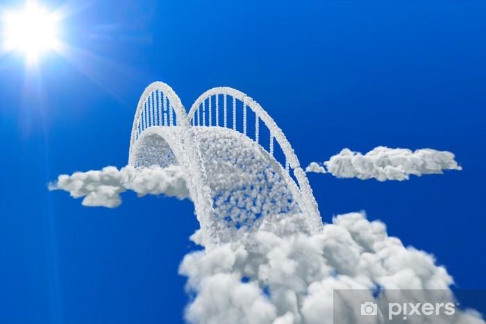 Sticker Pixerstick Pont dans les nuages - Thèmes