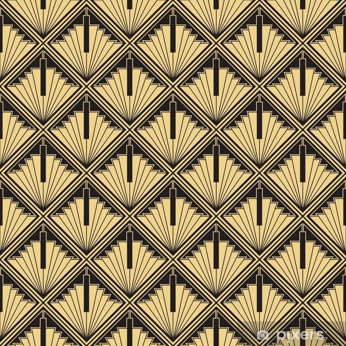Art Nouveau Carta Da Parati Art Deco.Abstract Art Deco Sticker Pixers We Live To Change