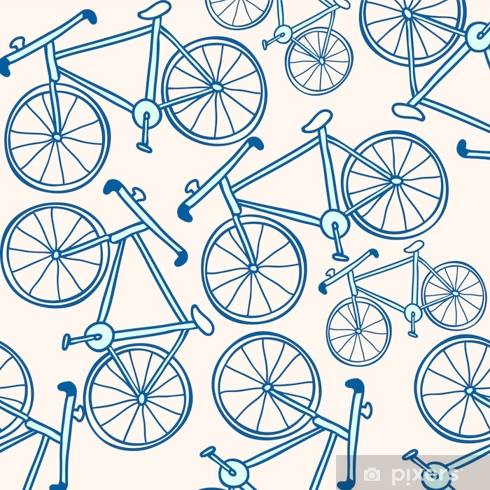 Aufkleber Fahrrad Fahrrad Muster Pixerstick