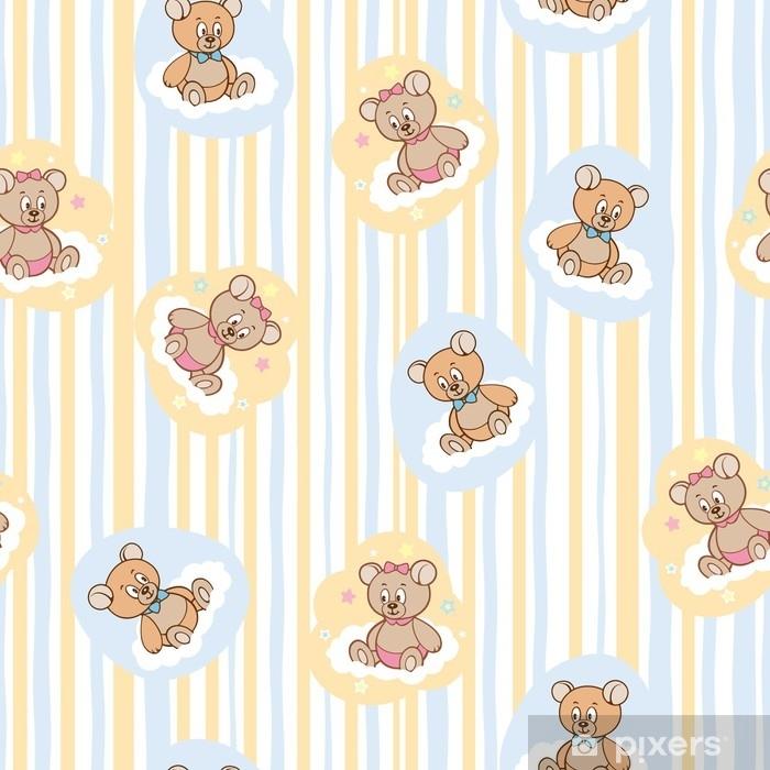 a311141d Fototapet Sømløs mønster for baby bakgrunn med bjørner • Pixers ...