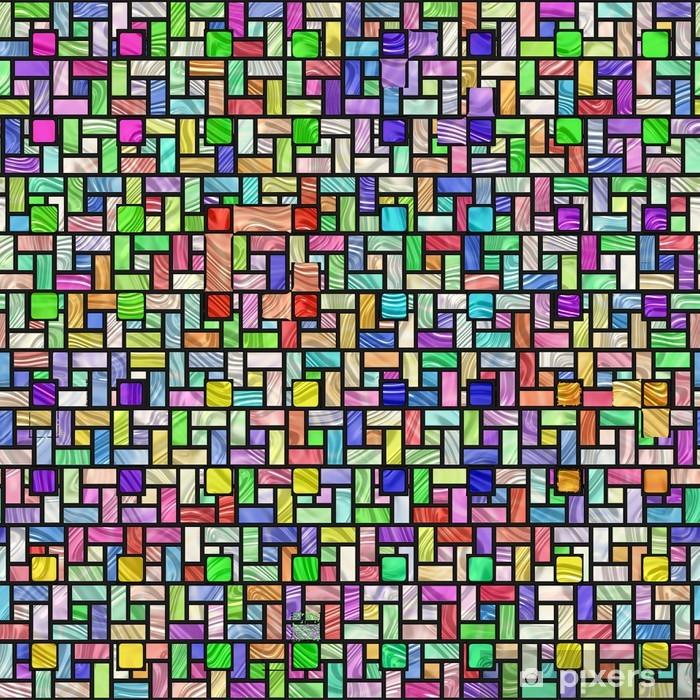 Fototapeta winylowa Kolorowe barwione szkło wzór - Krajobraz wiejski