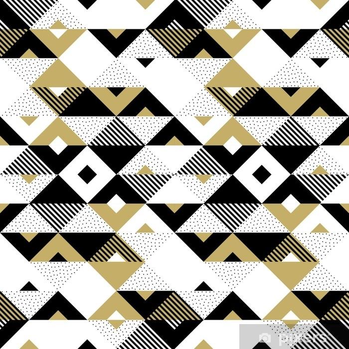 Papier Peint Triangle Motif Abstrait Geometrique Dore Fond De