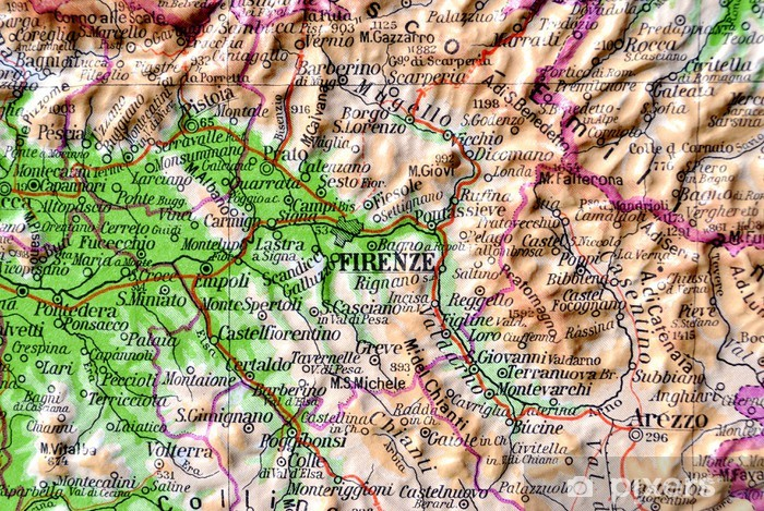 Kartta Toscana Firenze Tapetti Pixers Elamme Muutoksille