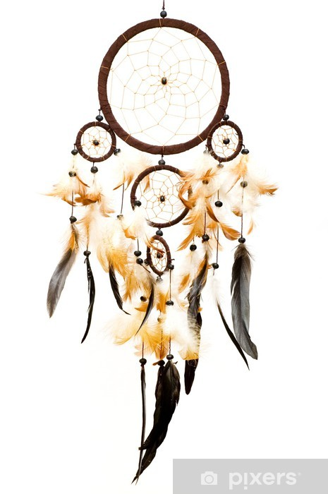 dreamcatcher isolated on white background Vinyl Wall Mural - Art and Creation
