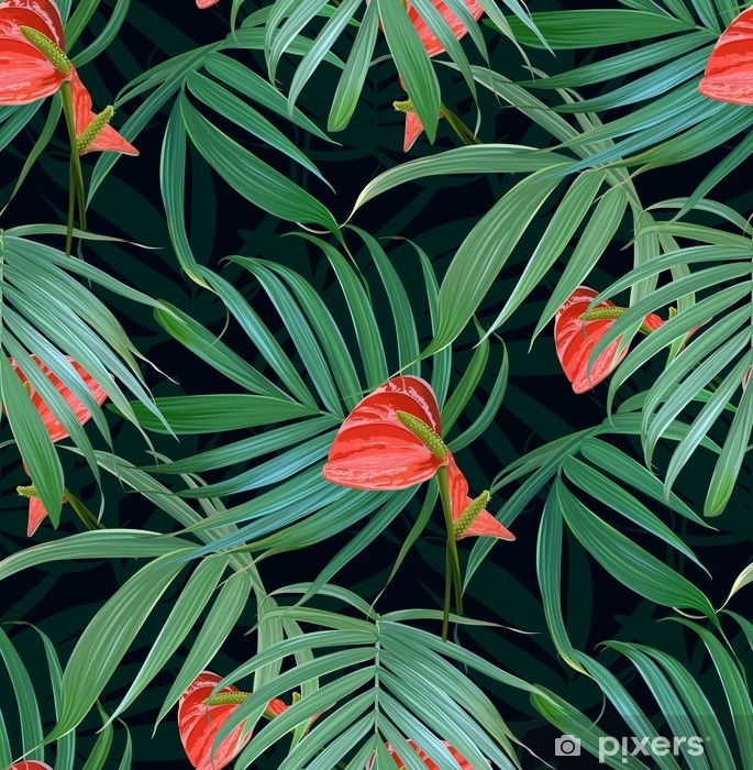 Vector Tropical Flowers And Palm Leaves Seamless Pattern Floral Exotic Hawaiian Background Blooming Elements Jungle Plants Ideal For Fabric Wallpaper Wrapping Paper Textile Bedding T Shirt Print Throw Pillow Pixers We Live To Change The best selection of royalty free hawaiian background vector art, graphics and stock illustrations. vector tropical flowers and palm leaves seamless pattern floral exotic hawaiian background blooming elements jungle plants ideal for fabric wallpaper wrapping paper textile bedding t shirt print throw pillow pixers we live to change