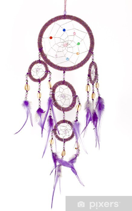 Dream catcher isolated on white. Vinyl Wall Mural - Art and Creation