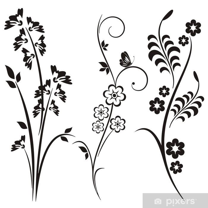 Papier peint vinyle Japonais Floral Designs - Thèmes