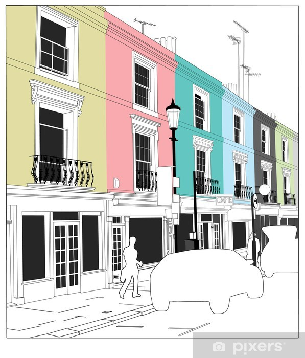 Portobello road, London Vinyl Wall Mural - Sales