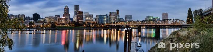 Naklejka Pixerstick Panorama z Portland w stanie Oregon, USA. - Ameryka