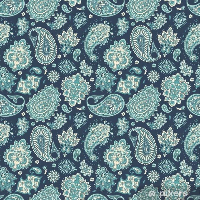 Poster Motif floral sans couture avec ornement paisley. illustration vectorielle dans un style textile asiatique - Ressources graphiques
