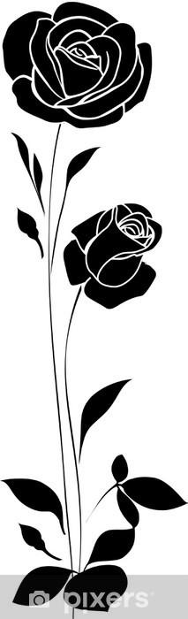 Naklejka Pixerstick Dekoracyjne róże - Kwiaty