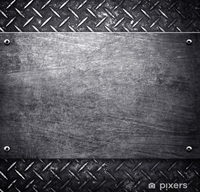 Vinilo Pixerstick Patrón de fondo de metal - Materias primas
