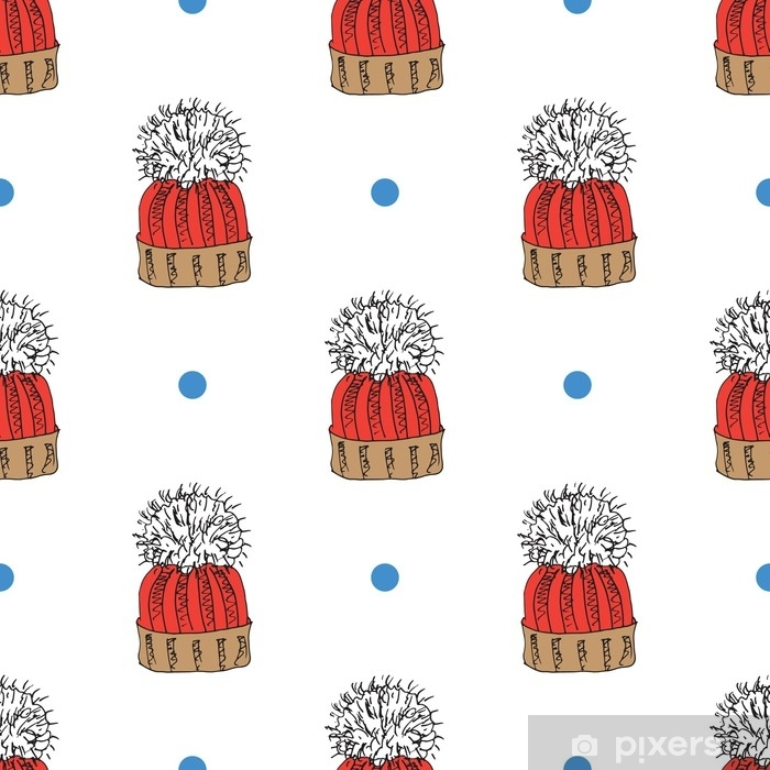 Winter Season Doodle Clothes Seamless Pattern Hand Drawn Sketch Elements Warm Raindeer Sweater Coat Boots Socks Gloves And Hats Vector