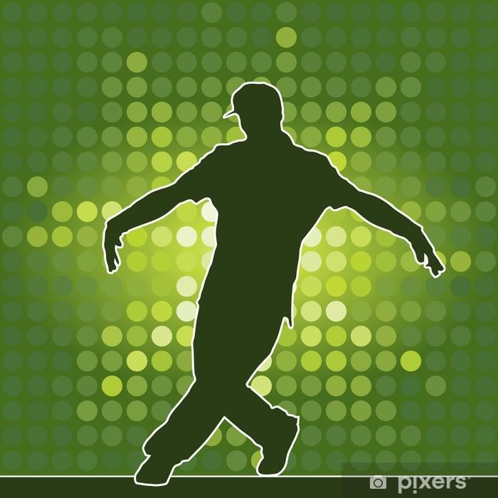 Vinyl Fotobehang Silhouet dansen, breakdance - Amusement