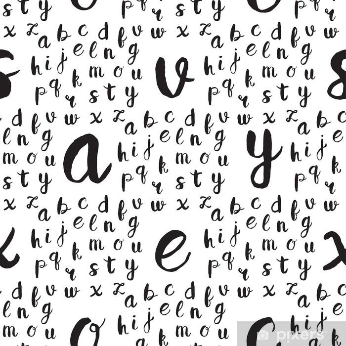 Carta Da Parati Lettere Alfabeto.Carta Da Parati Modello Senza Cuciture Con Lettere Dell Alfabeto