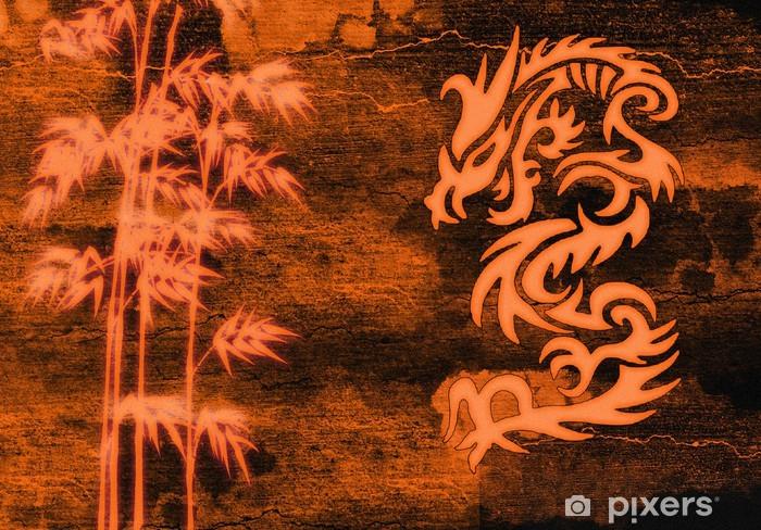 Papier peint vinyle Abstrait chinois - Thèmes
