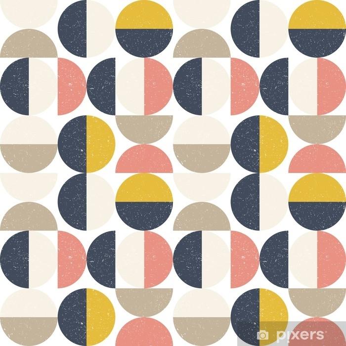 Vinyl Fotobehang Modern vector abstract naadloos geometrisch patroon met semi cirkels en cirkels in retro Skandinavische stijl - Grafische Bronnen