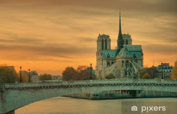Naklejka Pixerstick Kościół Notre Dame de Paris - Miasta europejskie