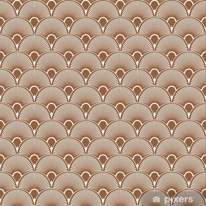 Art Deco Seamless Pattern Background. Vector Vinyl Wall Mural - Hobbies and Leisure