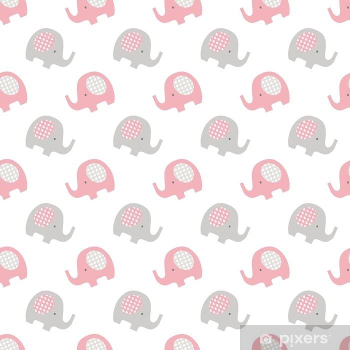 Vinilo para Mesa Lack Elefantes patrón de bebé sin costuras - Recursos gráficos