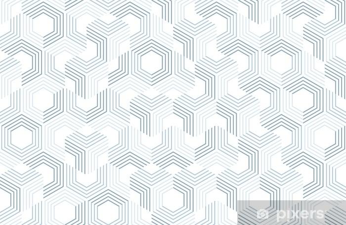 Papier peint vinyle Motif géométrique sans couture avec des hexagones et des lignes. structure irrégulière pour l'impression sur tissu. fond abstrait monochrome. - Ressources graphiques