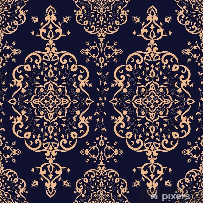 Baroque Floral Pattern Vector Seamless Victorian Luxury Background Texture Vintage Flower Ornament Design For