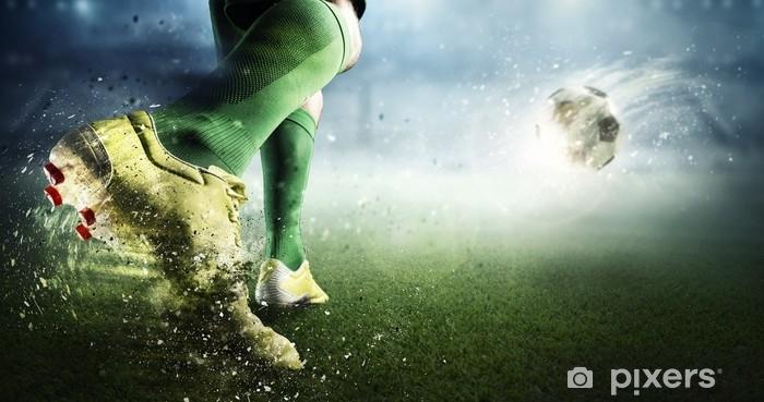 Fotomural Estándar Momento de gol de fútbol. medios mixtos - Deportes