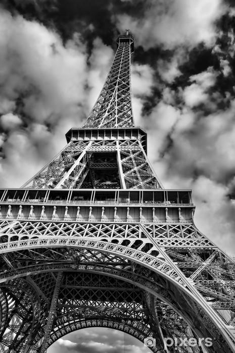Vinilo Pixerstick Imagen blanco y negro de la torre Eiffel - Temas