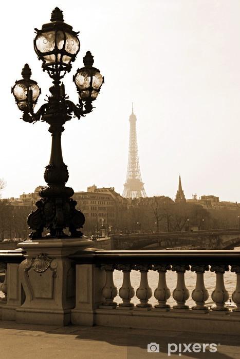 Naklejka Pixerstick Latarni na moście Aleksandra III w Paryżu, Francja - Tematy