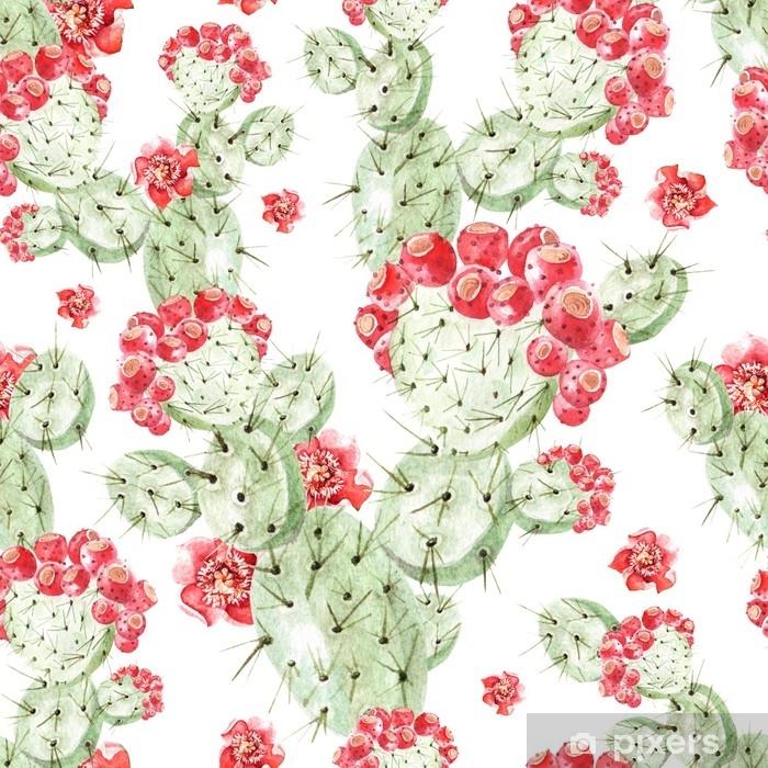 Papier Peint Modèle Aquarelle Avec Cactus Pixers Nous Vivons