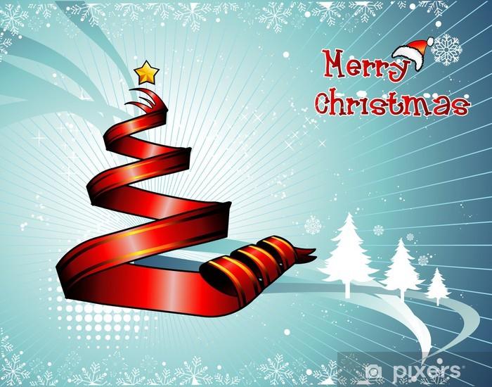 Vinyl Fotobehang Christmas tree vector - Internationale Vieringen