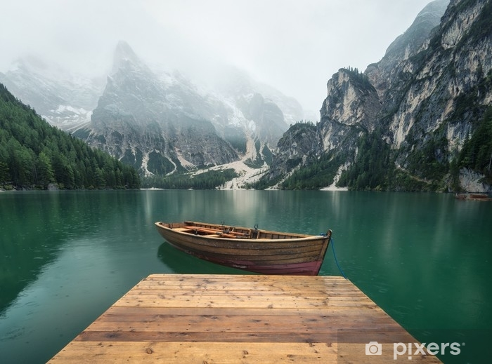 Beautiful natural landscape in the Italian mountains Vinyl Wall Mural - Landscapes