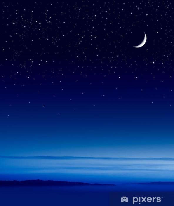Nálepka Pixerstick Měsíc nad oceánem - Měsíc