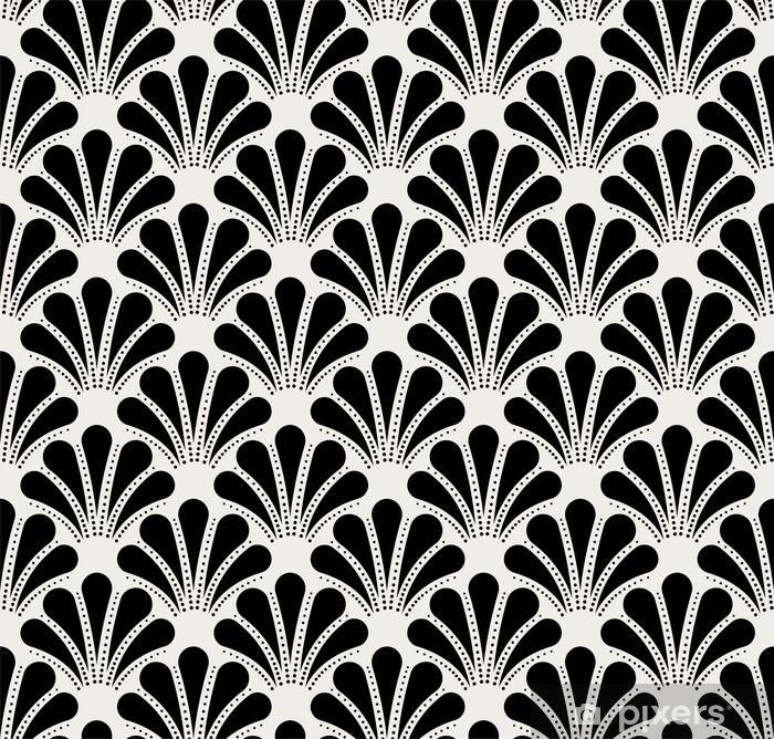 Poster Modèle sans couture vintage art déco. texture décorative de coquille géométrique. - Ressources graphiques