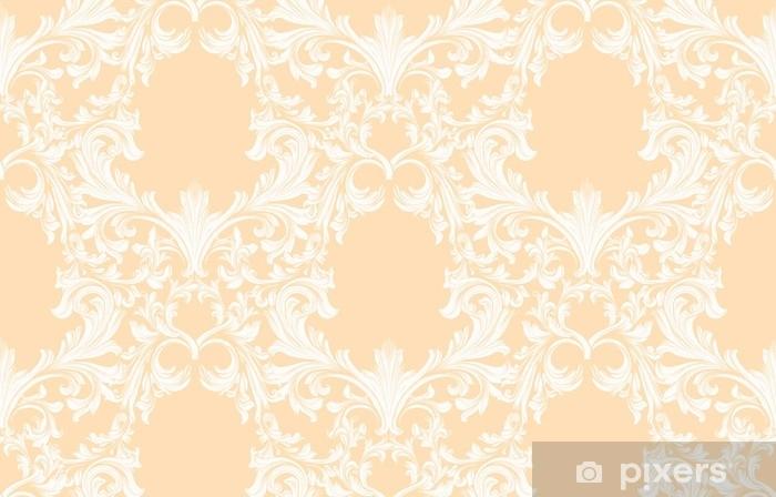 Damask pattern Vector illustration handmade ornament decor. Baroque background textures Pixerstick Sticker - Graphic Resources