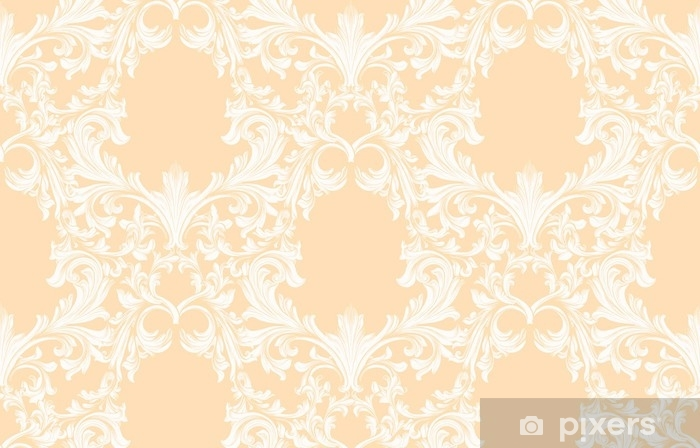 Damask pattern Vector illustration handmade ornament decor. Baroque background textures Vinyl Wall Mural - Graphic Resources