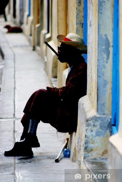 Fotomural Estándar Havana fumador - Infraestructuras
